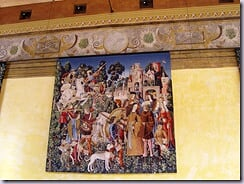 One of the fantastic tapestries hanging in the Chapel Royal