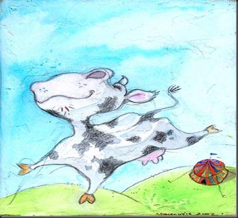 la vaca mas feli del mundoooo